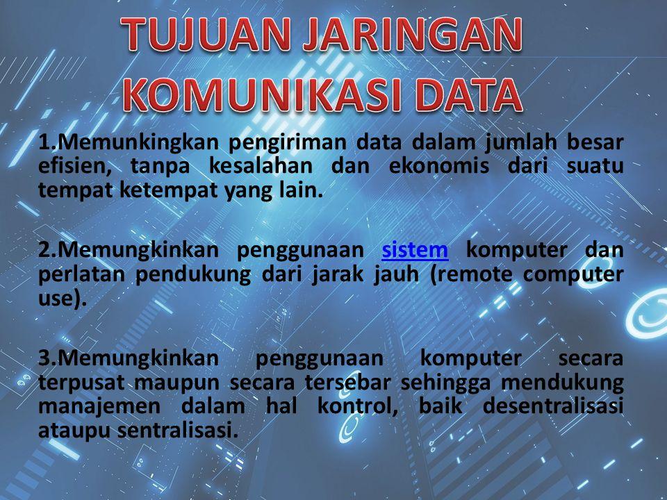 TUJUAN JARINGAN KOMUNIKASI DATA
