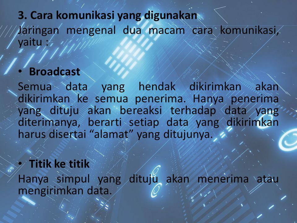 3. Cara komunikasi yang digunakan