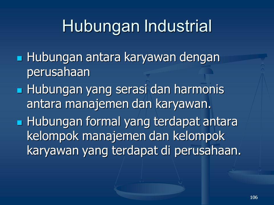Hubungan Industrial Hubungan antara karyawan dengan perusahaan