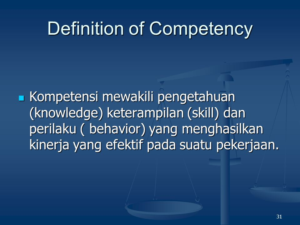Definition of Competency