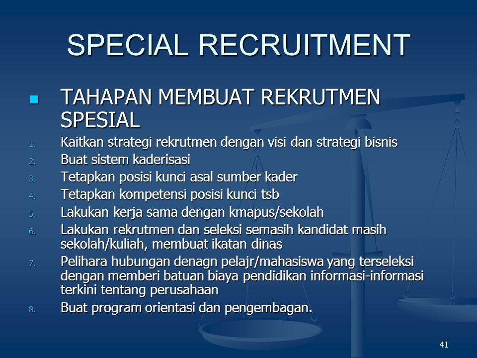 SPECIAL RECRUITMENT TAHAPAN MEMBUAT REKRUTMEN SPESIAL