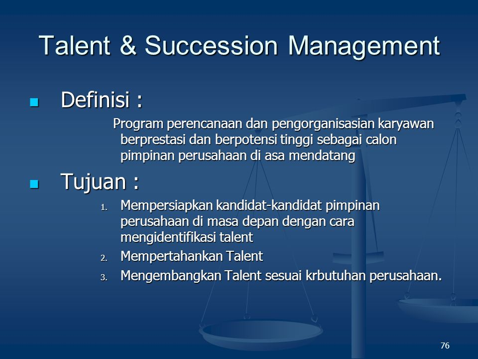 Talent & Succession Management