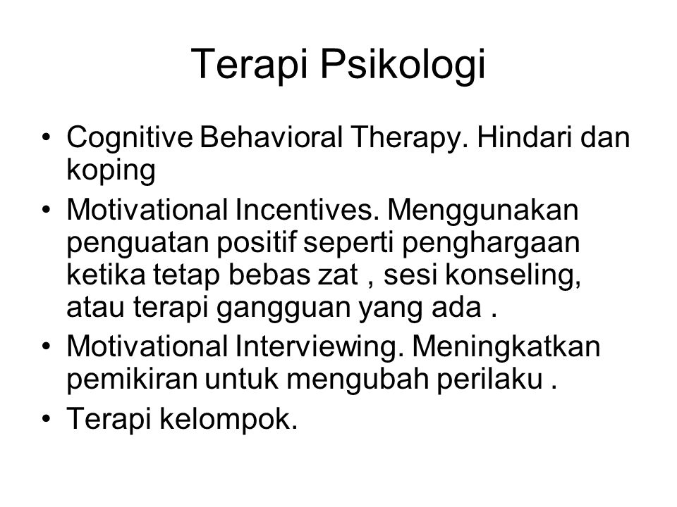 Terapi Psikologi Cognitive Behavioral Therapy. Hindari dan koping