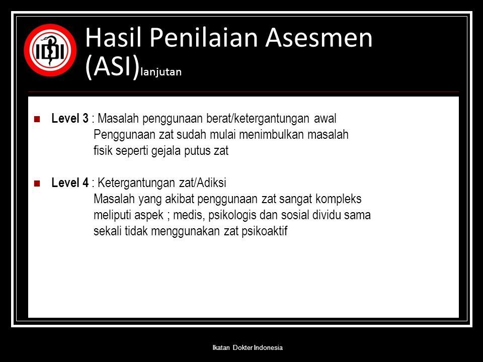 Hasil Penilaian Asesmen (ASI)lanjutan