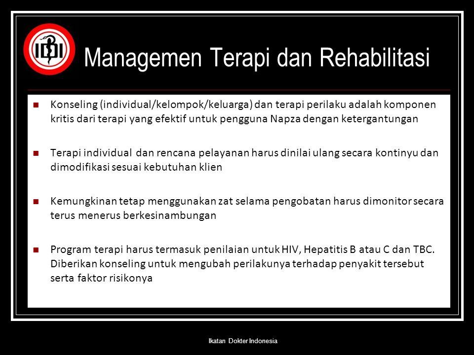 Managemen Terapi dan Rehabilitasi
