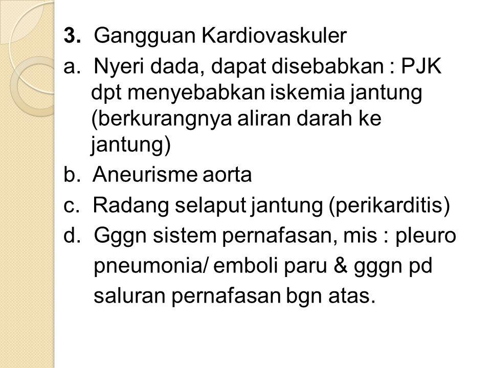 3. Gangguan Kardiovaskuler a