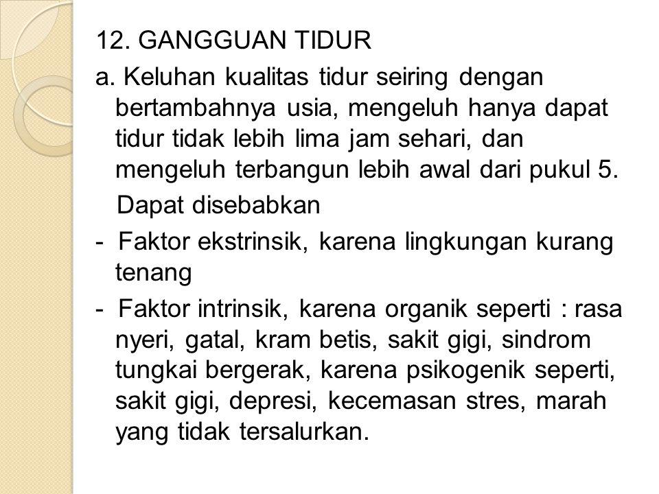 12. GANGGUAN TIDUR