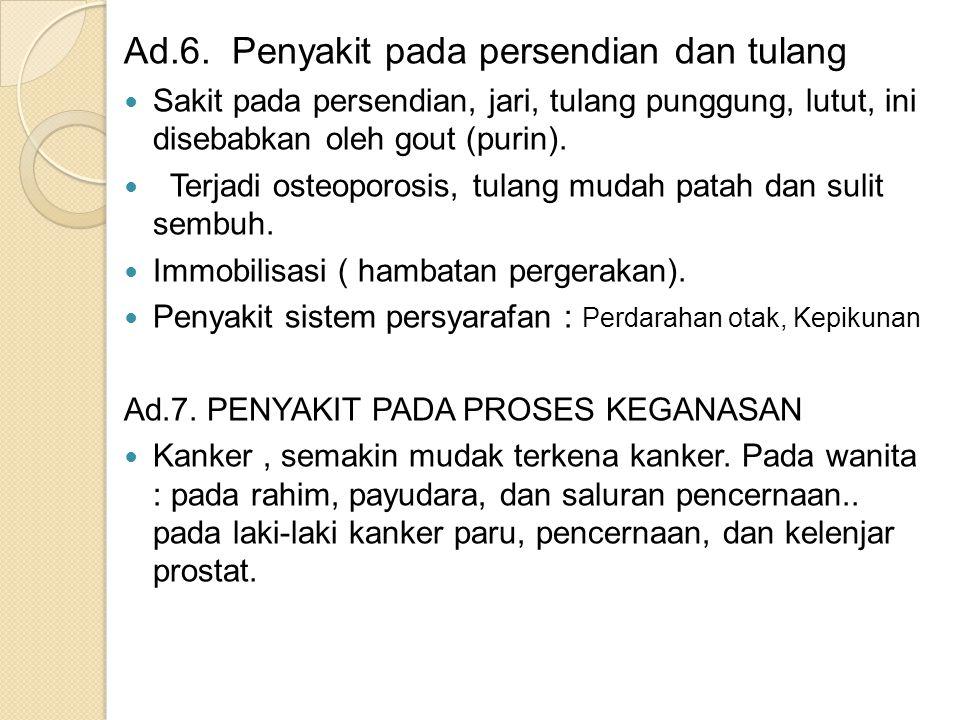 Ad.6. Penyakit pada persendian dan tulang