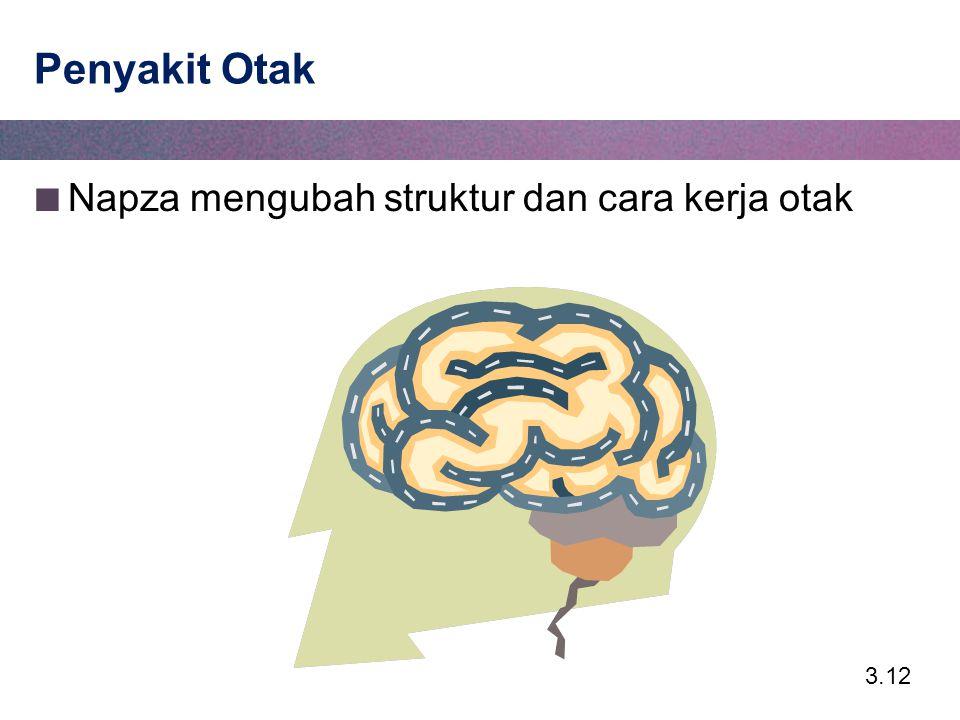 Penyakit Otak Napza mengubah struktur dan cara kerja otak