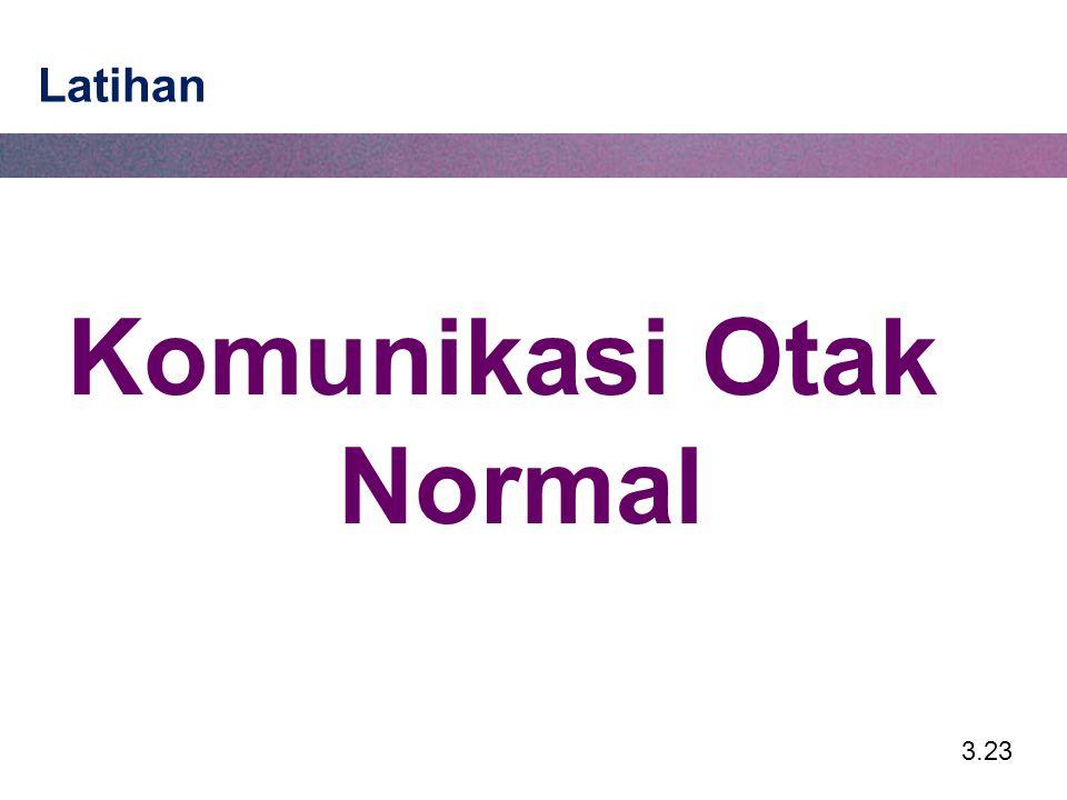 Komunikasi Otak Normal