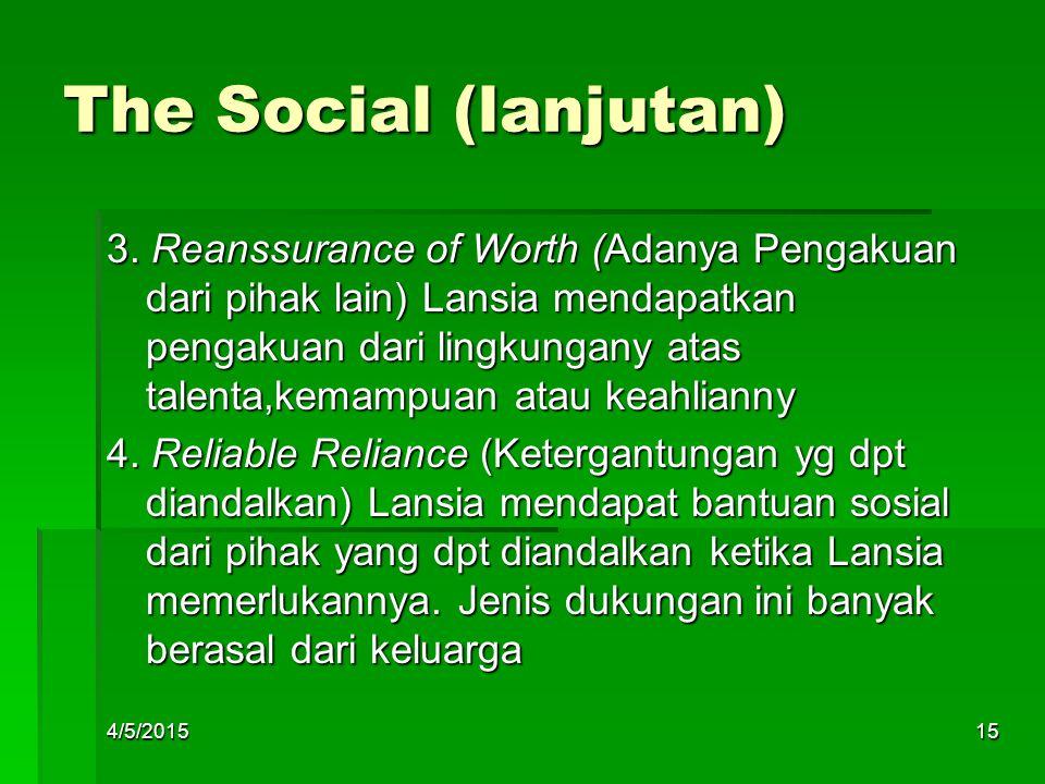 The Social (lanjutan)
