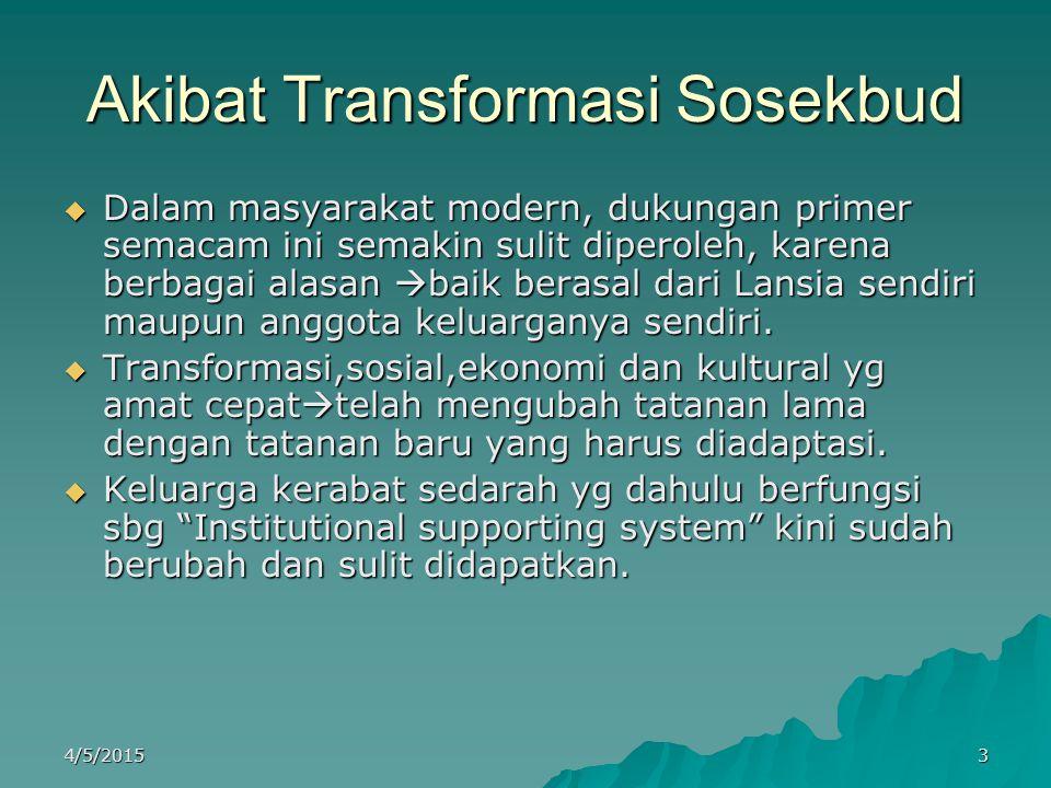 Akibat Transformasi Sosekbud