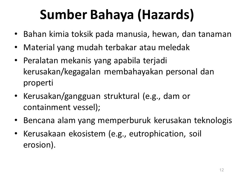 Sumber Bahaya (Hazards)