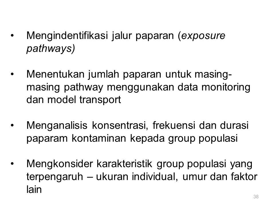 Mengindentifikasi jalur paparan (exposure pathways)
