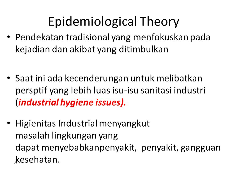 Epidemiological Theory