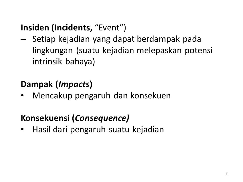 Insiden (Incidents, Event )