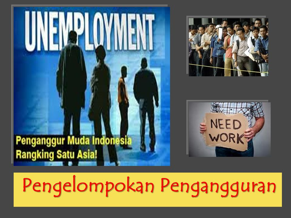 Pengelompokan Pengangguran