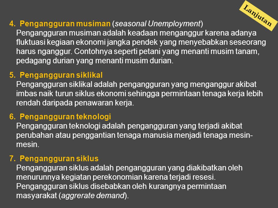 Pengangguran musiman (seasonal Unemployment)