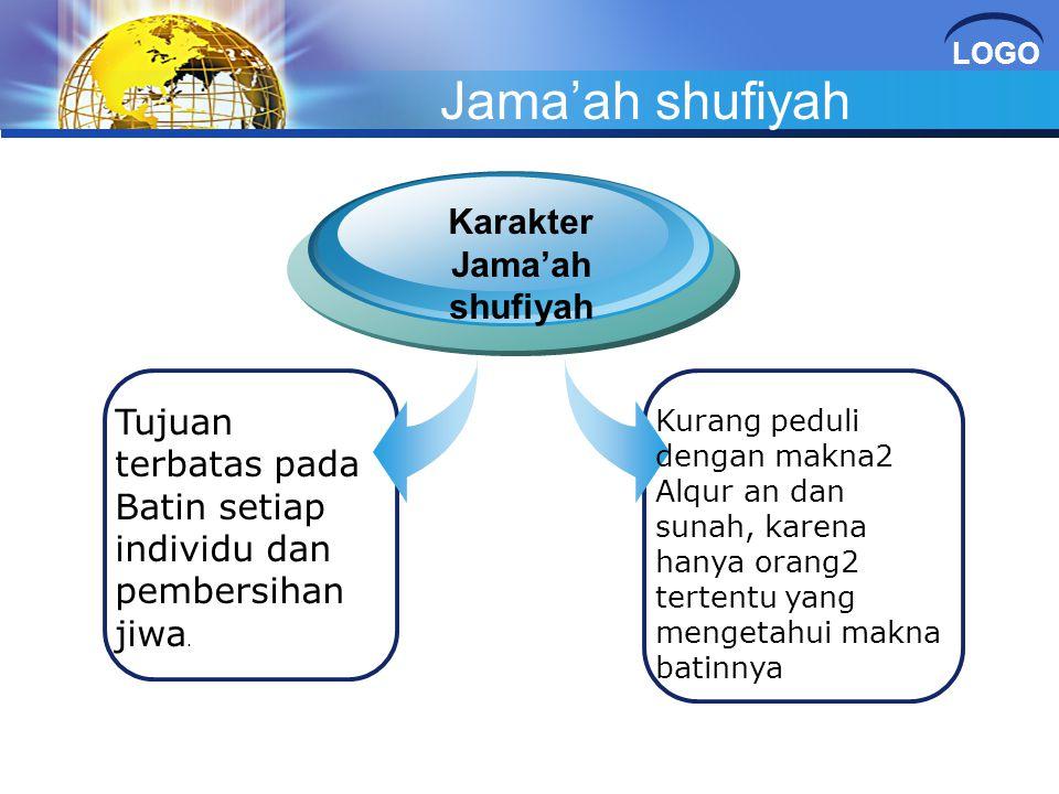 Karakter Jama'ah shufiyah
