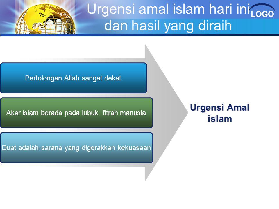 Urgensi amal islam hari ini dan hasil yang diraih