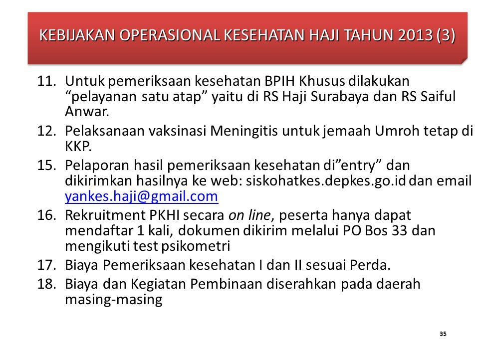 KEBIJAKAN OPERASIONAL KESEHATAN HAJI TAHUN 2013 (3)