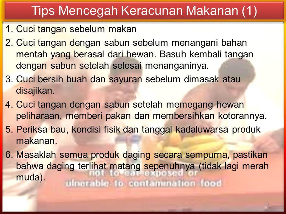 Tips Mencegah Keracunan Makanan (1)