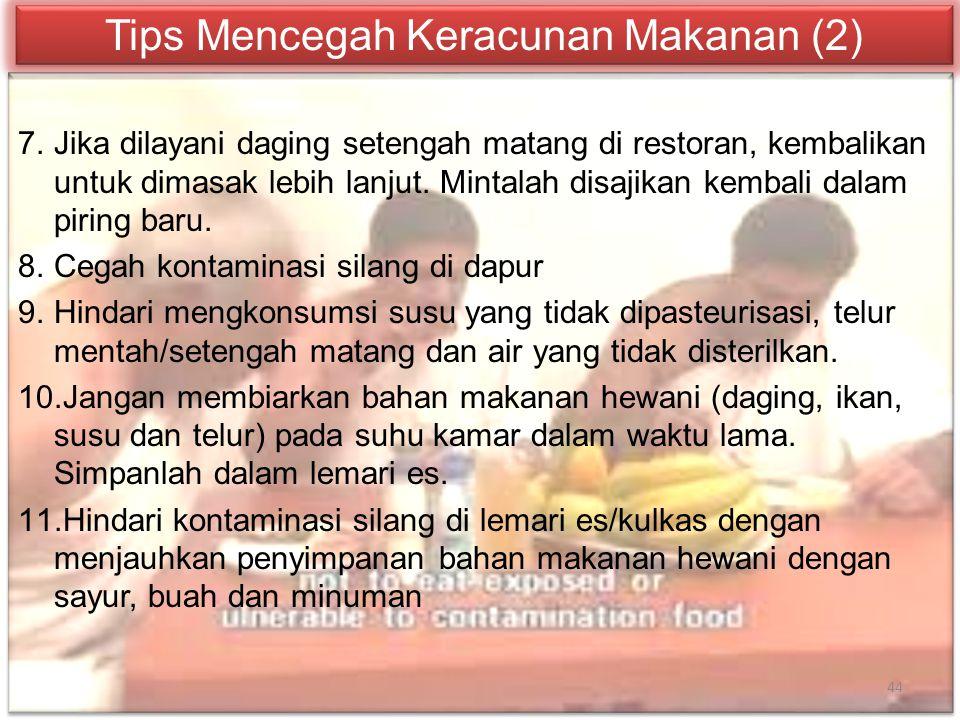 Tips Mencegah Keracunan Makanan (2)