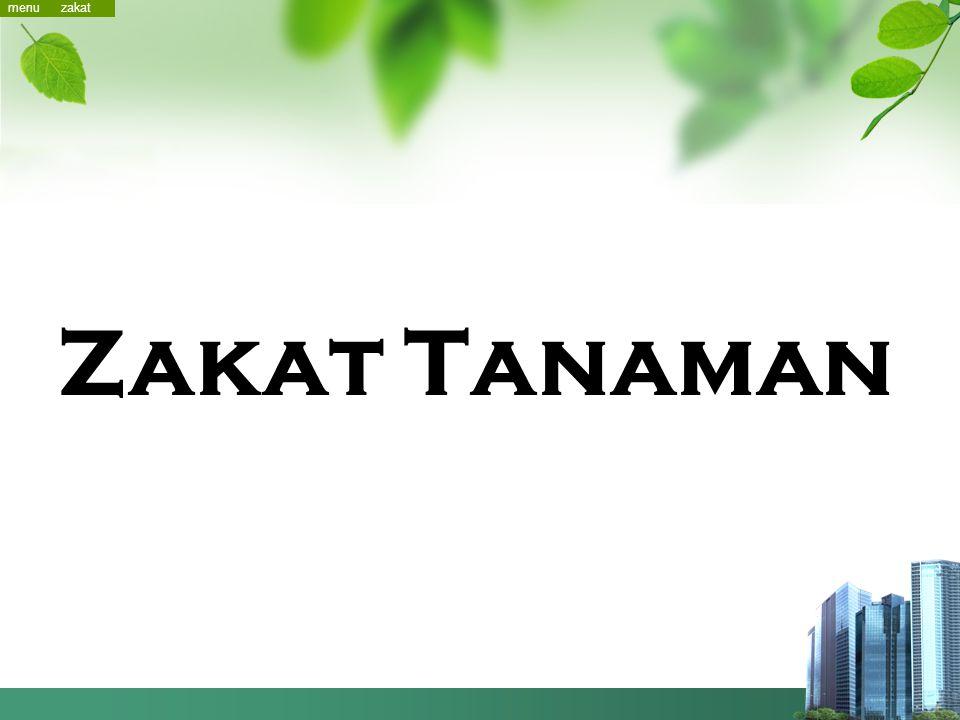 menu menu zakat Zakat Tanaman
