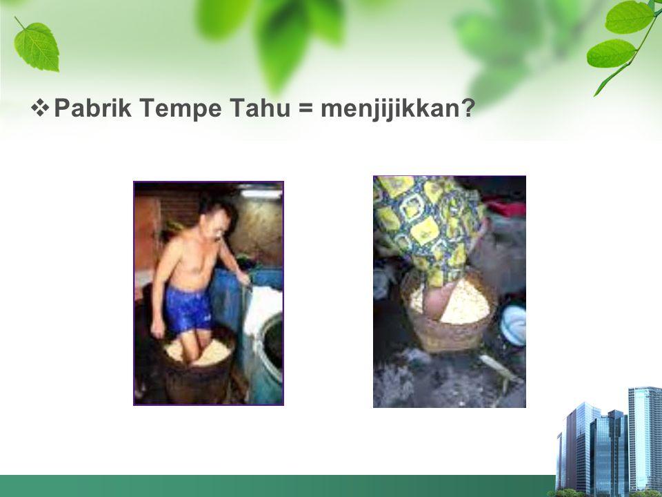 Pabrik Tempe Tahu = menjijikkan