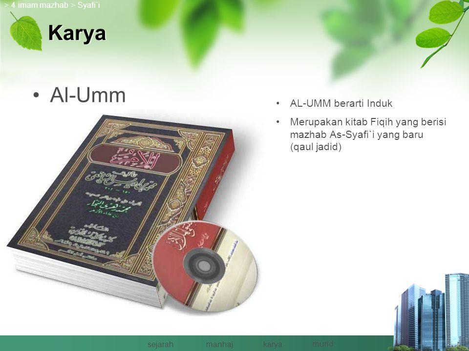 Karya Al-Umm AL-UMM berarti Induk