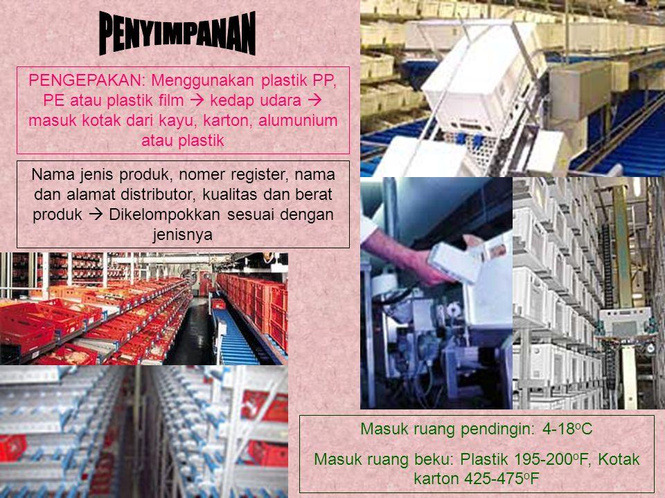 PENYIMPANAN PENGEPAKAN: Menggunakan plastik PP, PE atau plastik film  kedap udara  masuk kotak dari kayu, karton, alumunium atau plastik.