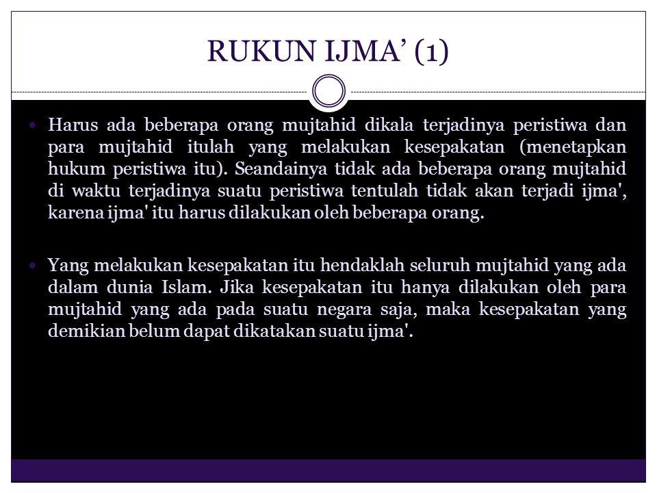 RUKUN IJMA' (1)