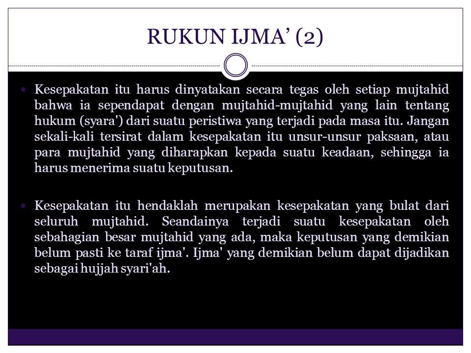 RUKUN IJMA' (2)