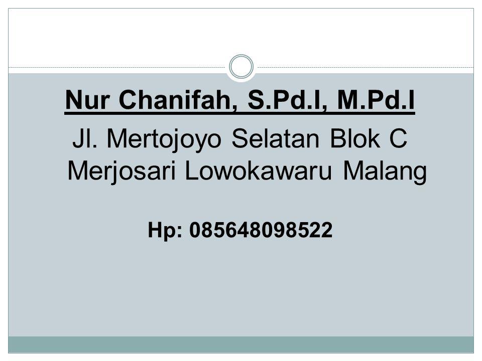 Jl. Mertojoyo Selatan Blok C Merjosari Lowokawaru Malang