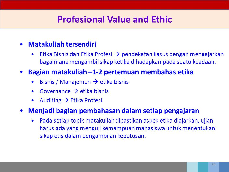 Profesional Value and Ethic