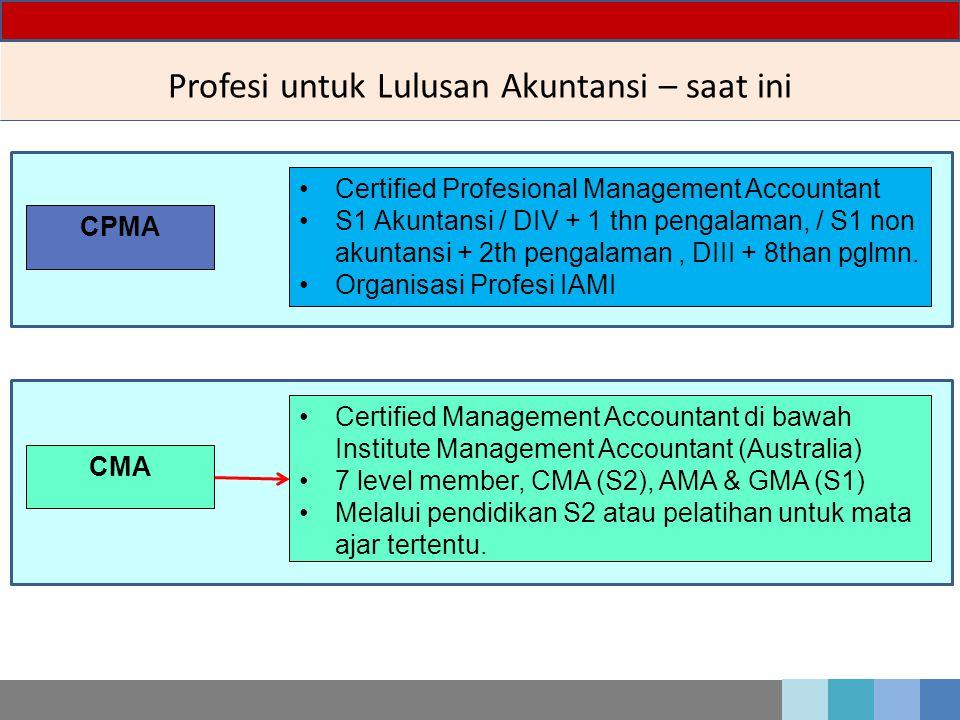 Profesi untuk Lulusan Akuntansi – saat ini
