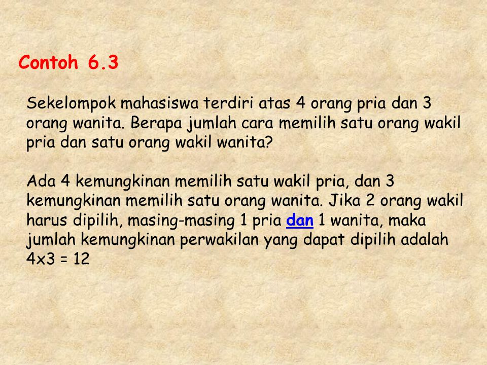 Contoh 6.3
