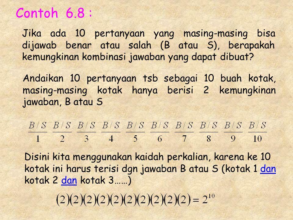 Contoh 6.8 :