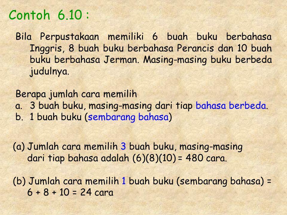 Contoh 6.10 :