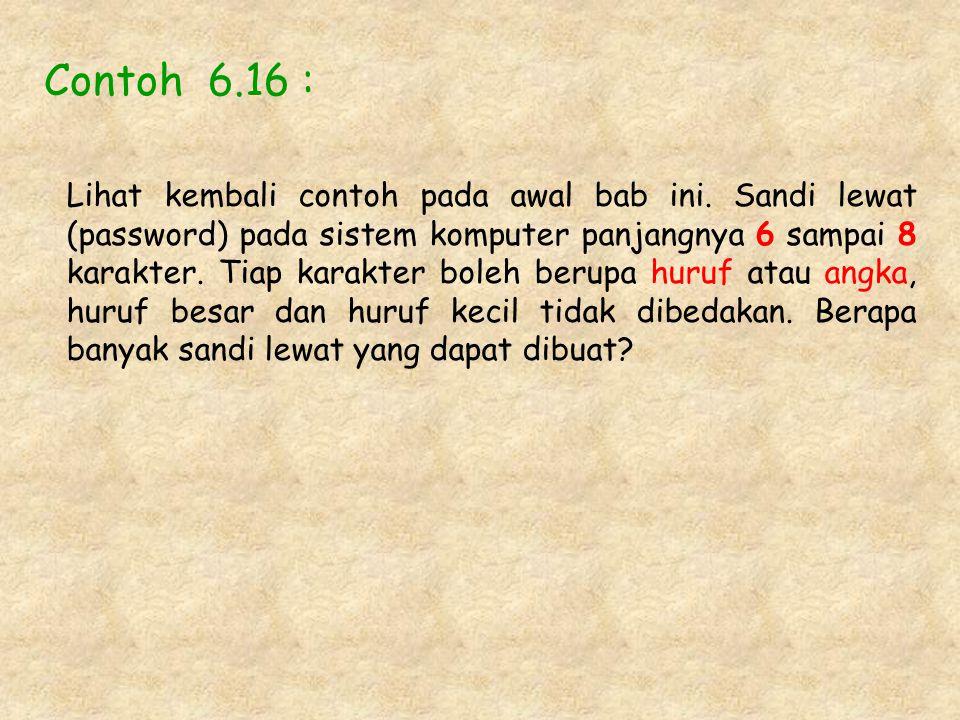 Contoh 6.16 :