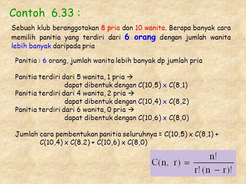 Contoh 6.33 :