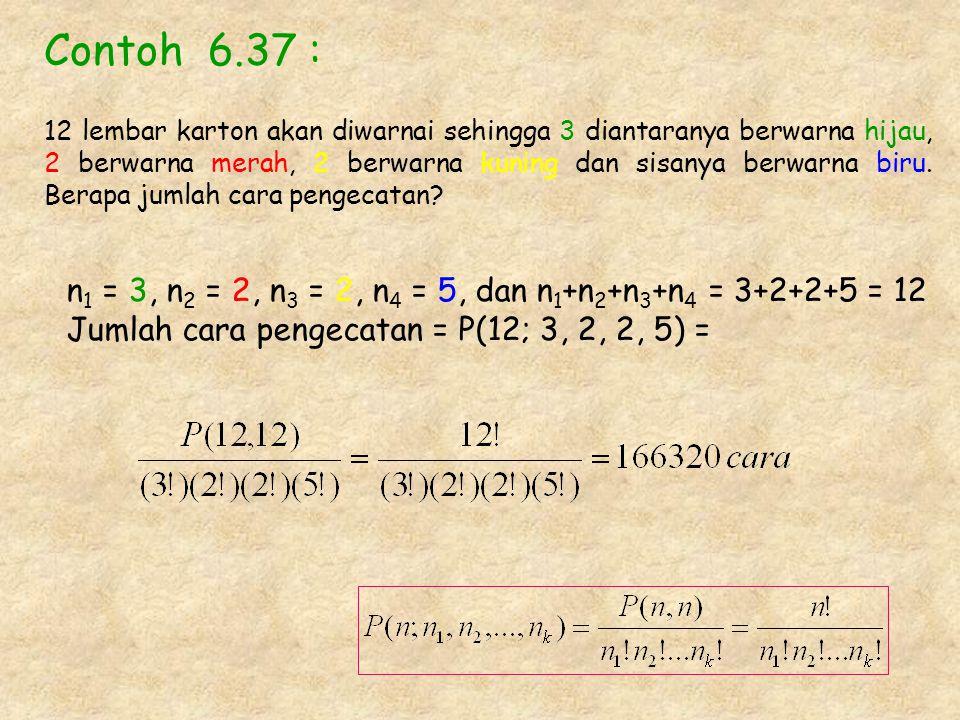 Contoh 6.37 :