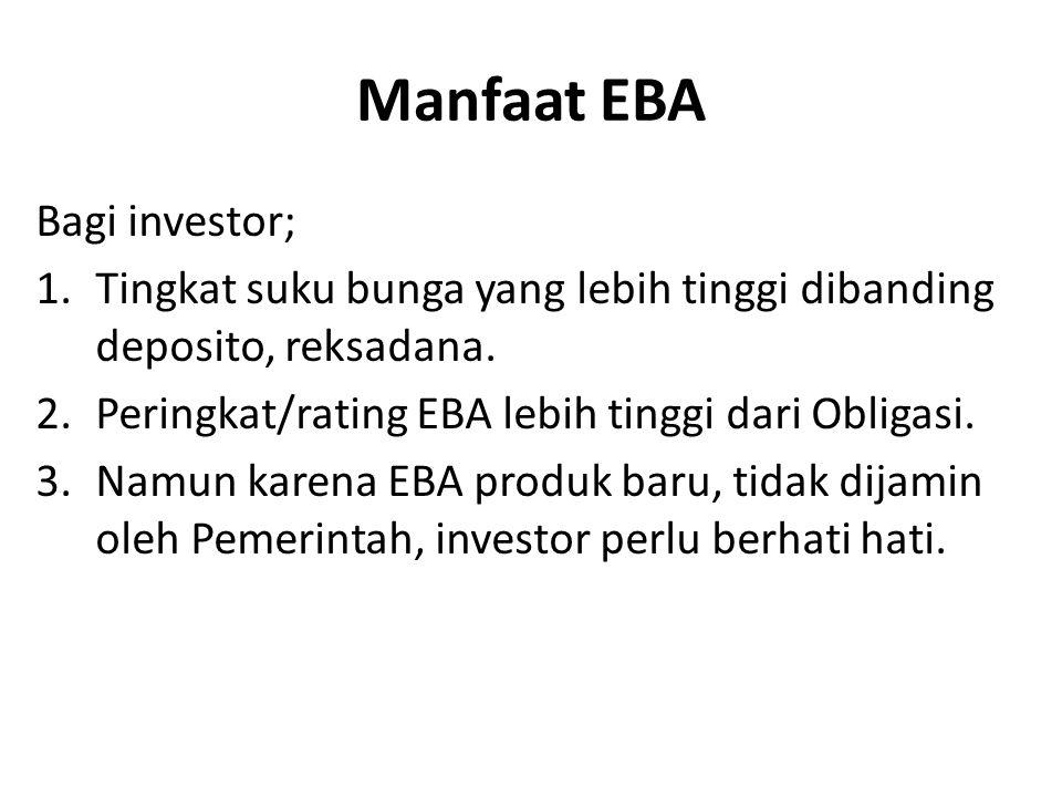 Manfaat EBA Bagi investor;