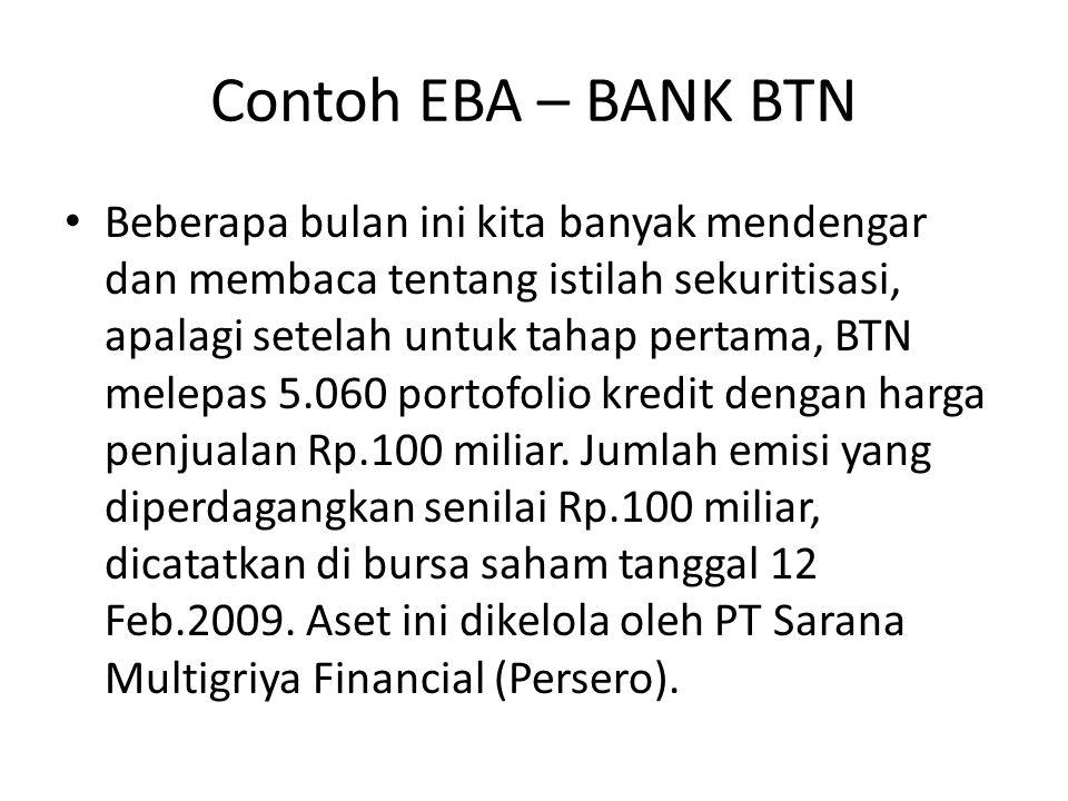Contoh EBA – BANK BTN