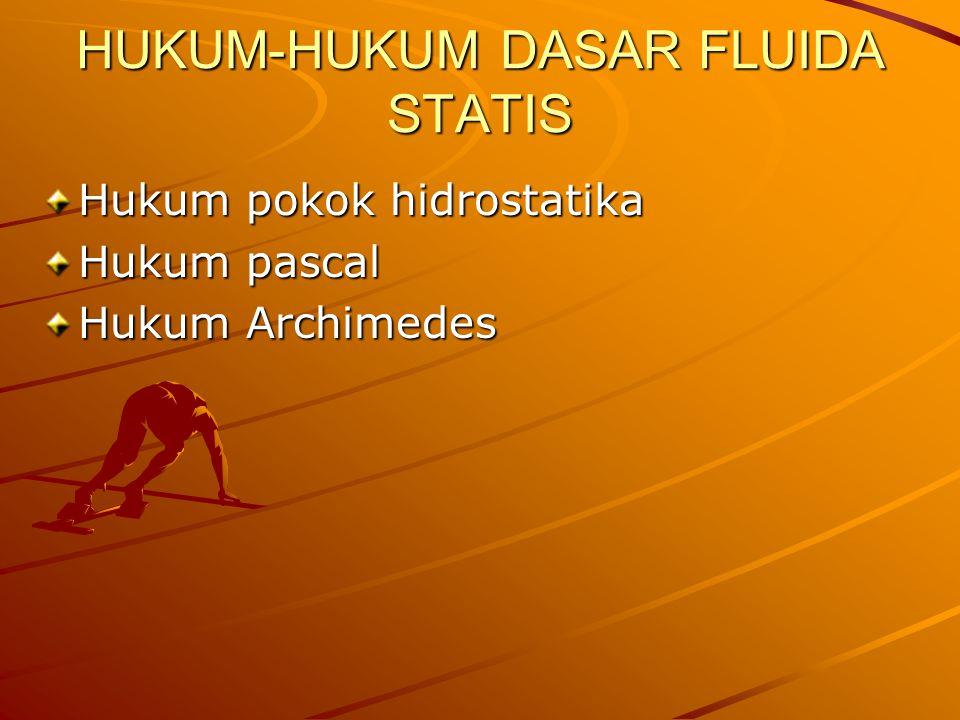 HUKUM-HUKUM DASAR FLUIDA STATIS