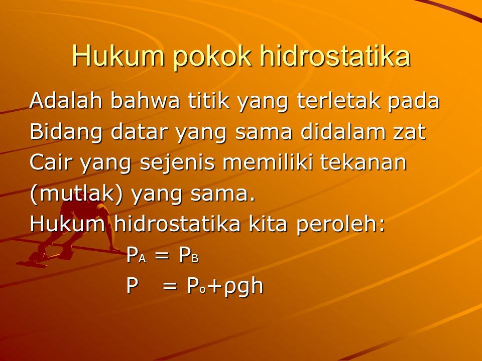 Hukum pokok hidrostatika