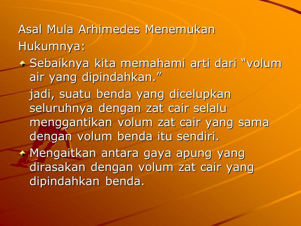 Asal Mula Arhimedes Menemukan