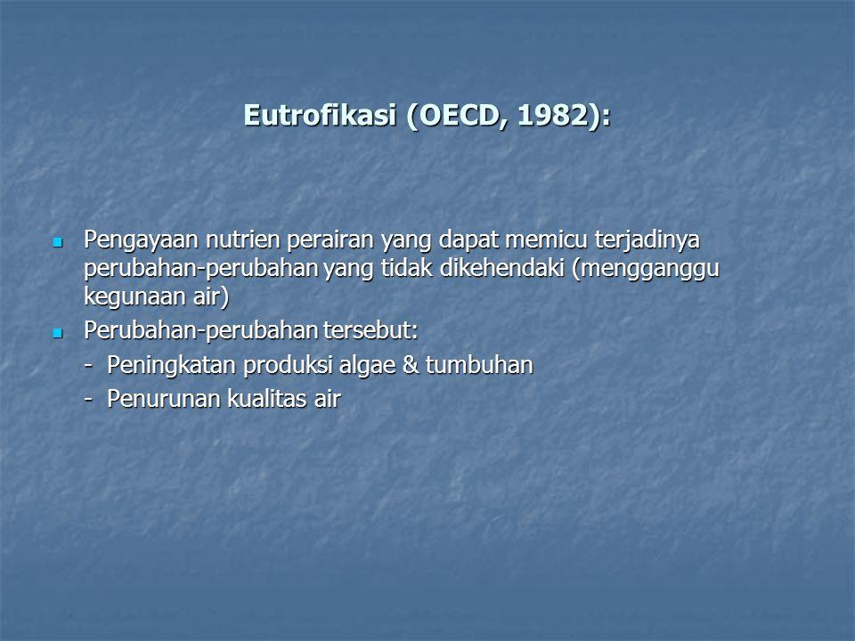 Eutrofikasi (OECD, 1982):