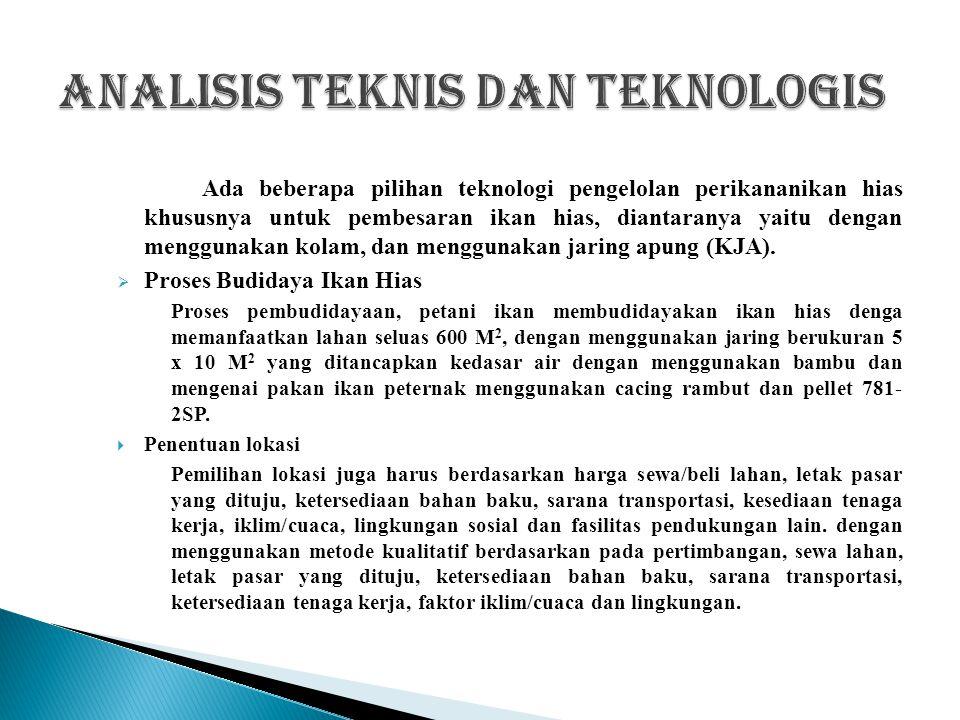 Analisis teknis dan teknologis