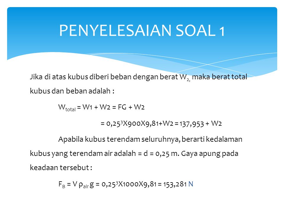 PENYELESAIAN SOAL 1